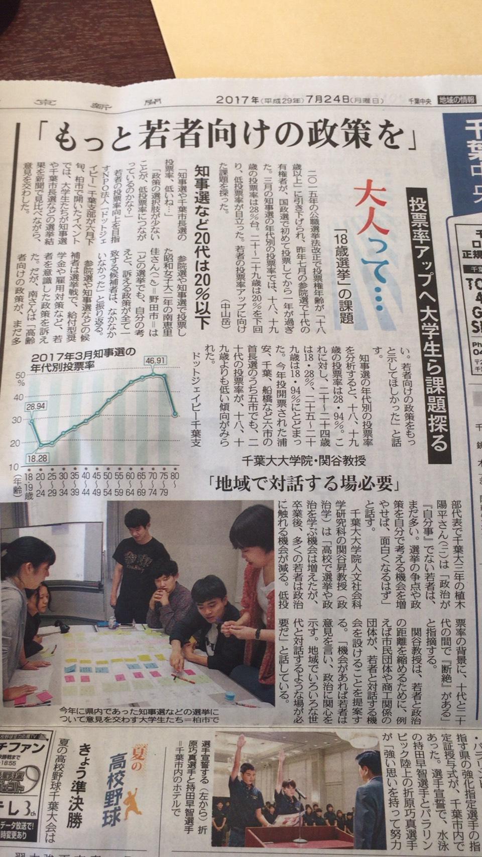 東京新聞@千葉